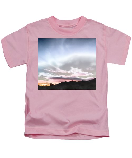 Kids T-Shirt featuring the photograph Submarine In The Sky by Judy Kennedy