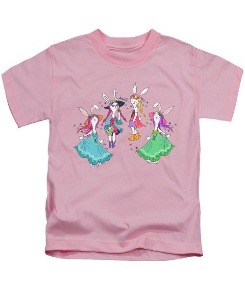 Summer Bunny Festival Kids T-Shirt