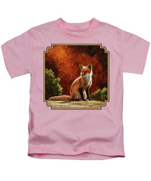 Sun Fox Kids T-Shirt by Crista Forest