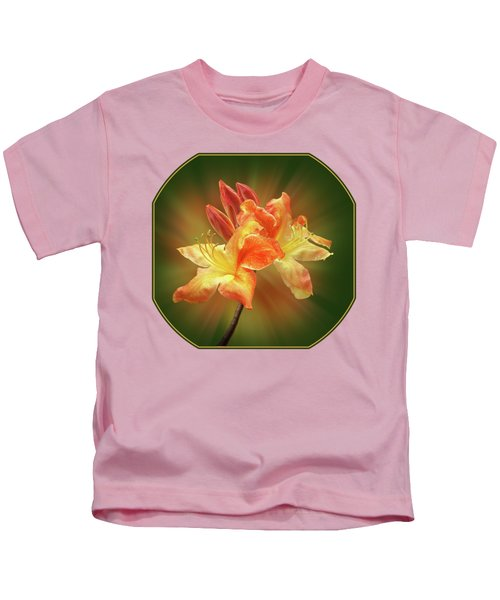 Sunburst Orange Azalea Kids T-Shirt