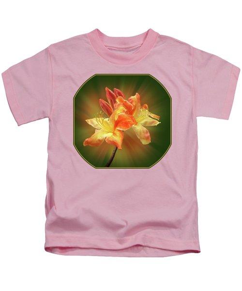 Sunburst Orange Azalea Kids T-Shirt