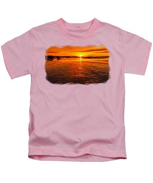 Sundown At Low Tide 2 Kids T-Shirt