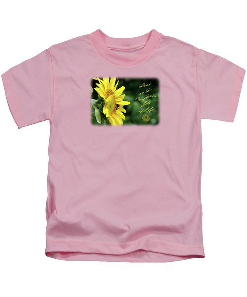 Sunflower Side Of Life Kids T-Shirt