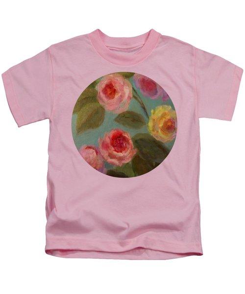 Sunlit Roses Kids T-Shirt