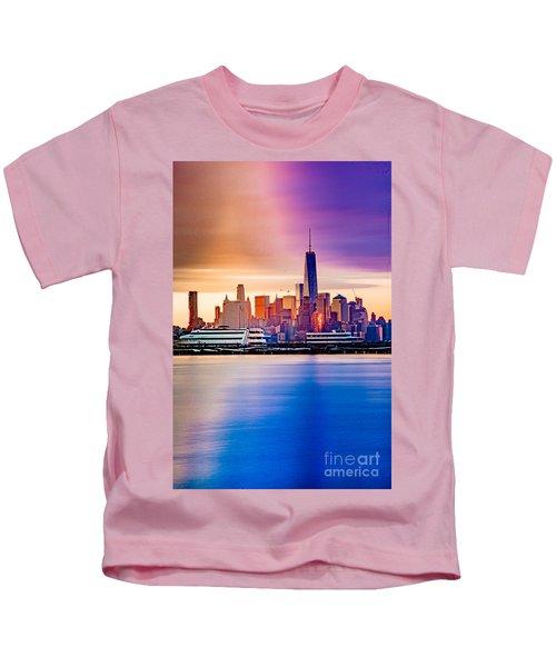 Sunrise On Freedom Kids T-Shirt