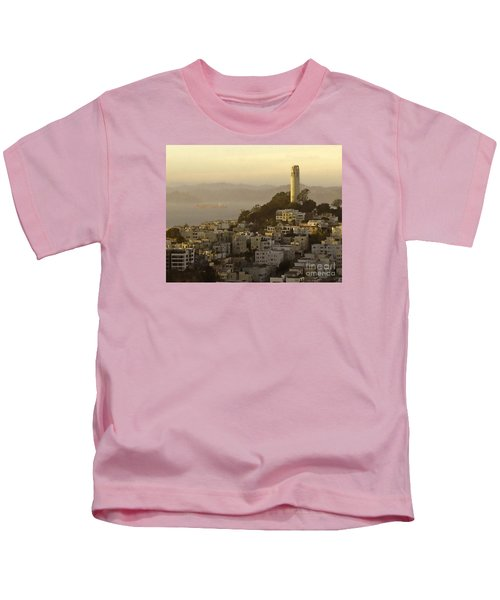 Sunset Over The Water Kids T-Shirt