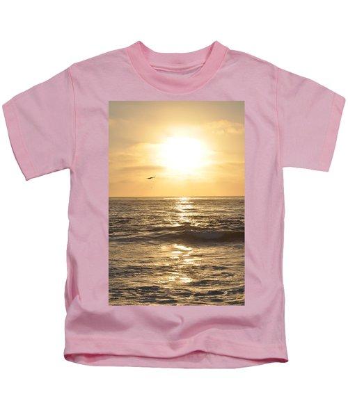 Sunset Pelican Silhouette Kids T-Shirt