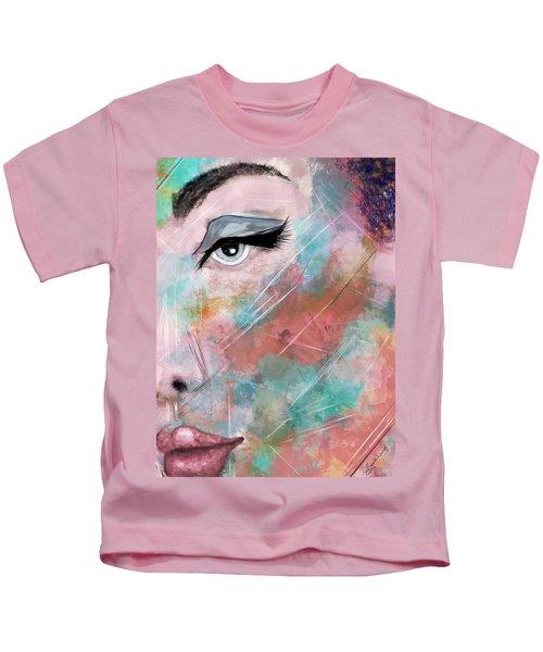 Sunset - Woman Abstract Art Kids T-Shirt