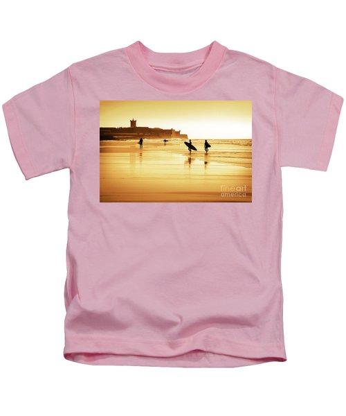 Surfers Silhouettes Kids T-Shirt