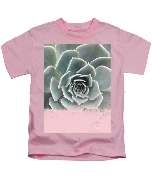 Sweet Pink Paint On Succulent Kids T-Shirt