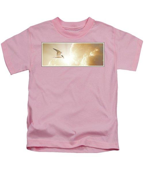 Tern In Flight, Spiritual Light Of Dusk Kids T-Shirt