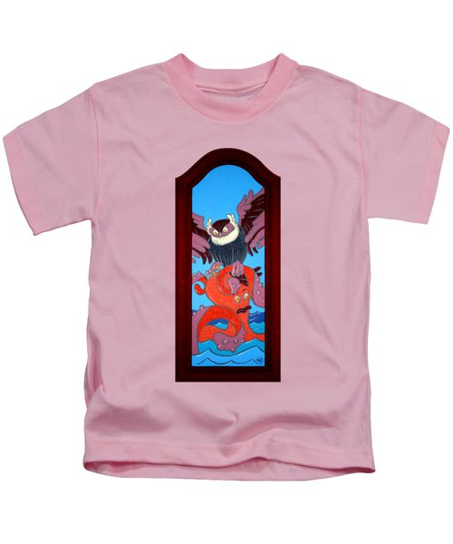 The Apprehension Painted On A Salvaged Cabinet Door Kids T-Shirt