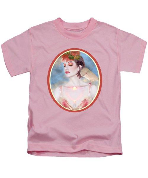 The Avian Dream - Self Portrait Kids T-Shirt by Jaeda DeWalt