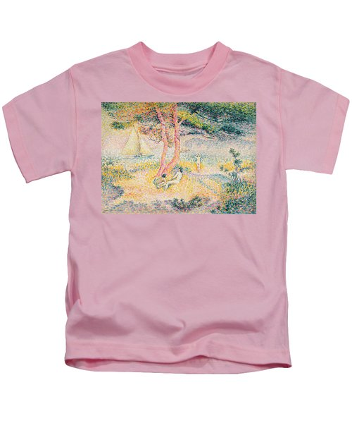 The Beach At St Clair Kids T-Shirt
