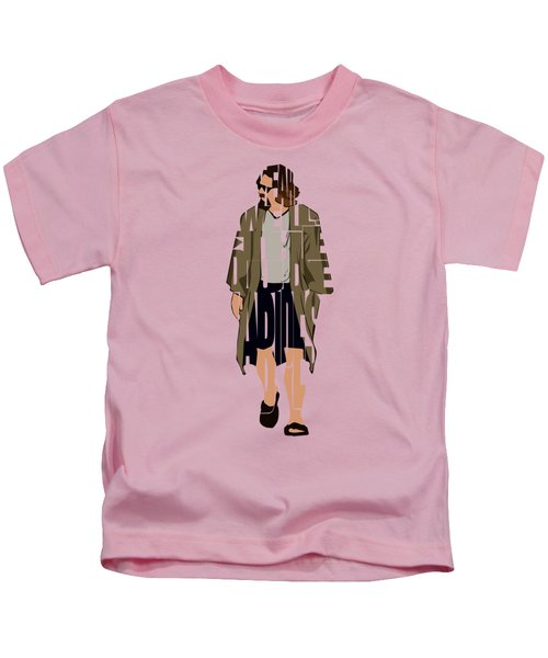 The Big Lebowski Inspired The Dude Typography Artwork Kids T-Shirt