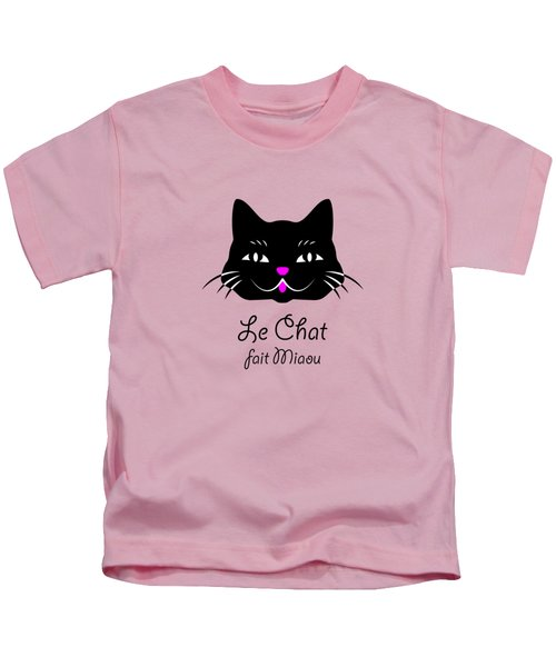The Cat Says Meow Kids T-Shirt