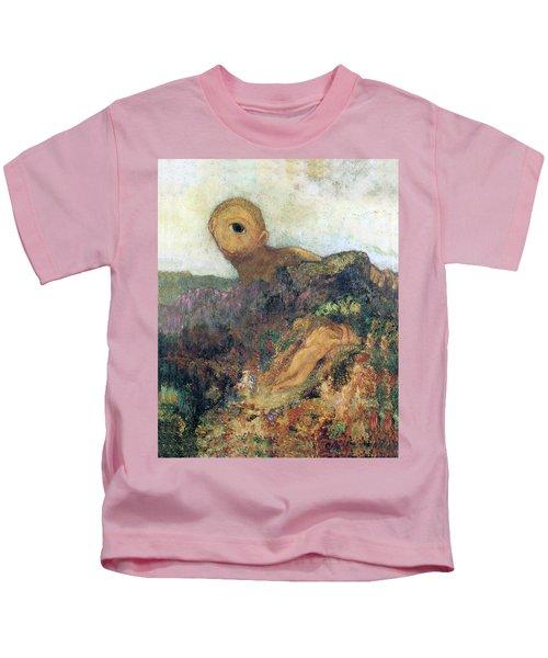 The Cyclops Kids T-Shirt by Odilon Redon