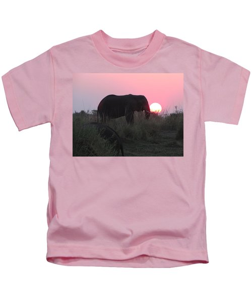 The Elephant And The Sun Kids T-Shirt