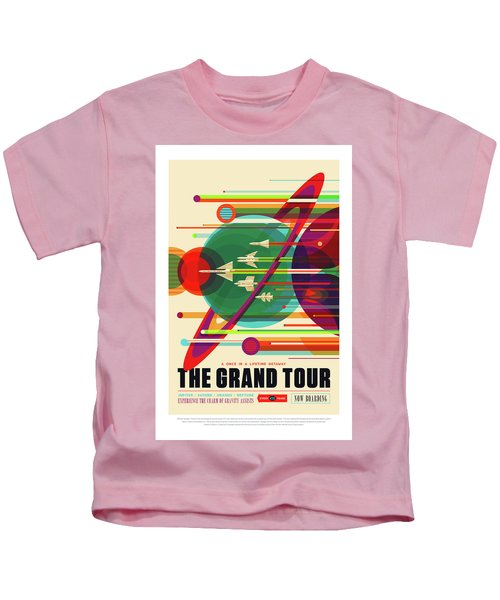 The Grand Tour - Nasa Vintage Poster Kids T-Shirt