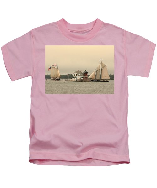 The Lighthouse At Rockland Kids T-Shirt