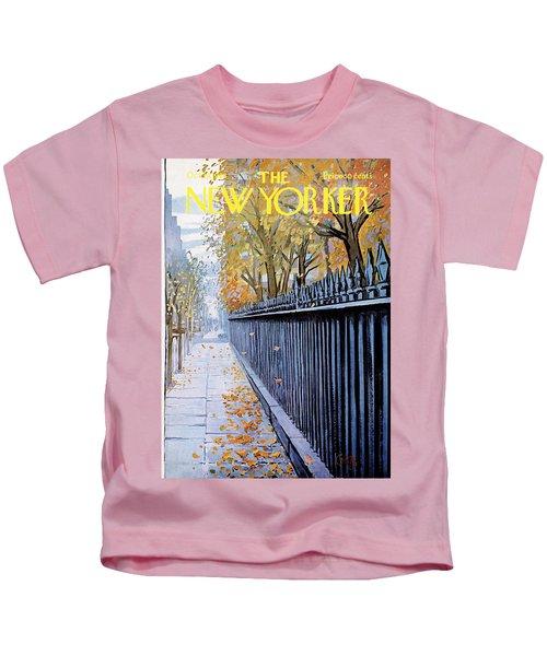 Autumn In New York Kids T-Shirt