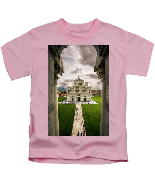 The Pisa Cathedral From The Bapistry Kids T-Shirt