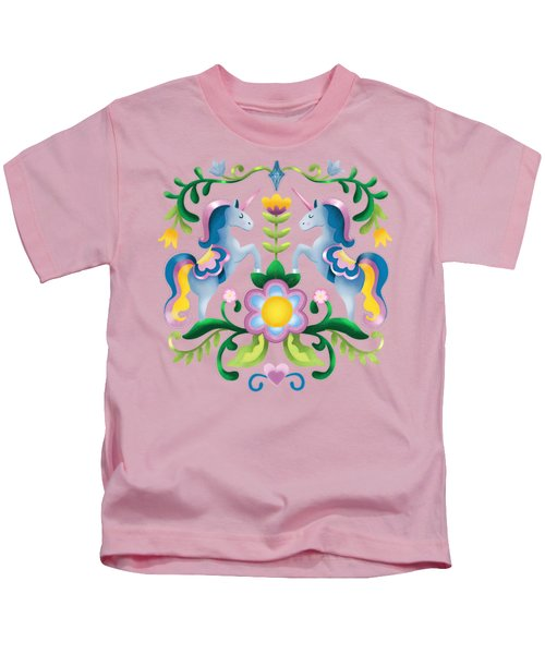 The Royal Society Of Cute Unicorns Light Background Kids T-Shirt