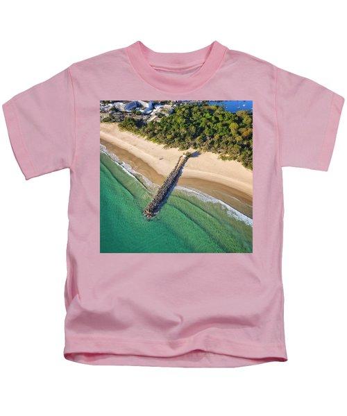 The Sea Wall Near Noosa Main Beach Kids T-Shirt
