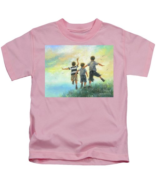 Three Brothers Leaping Kids T-Shirt