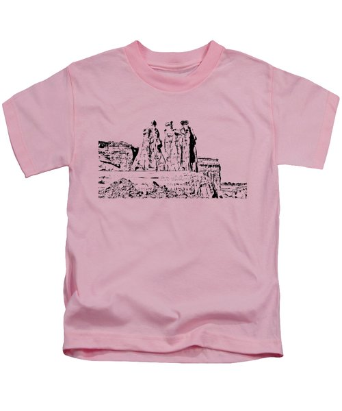 Three Gossips Drawing Kids T-Shirt