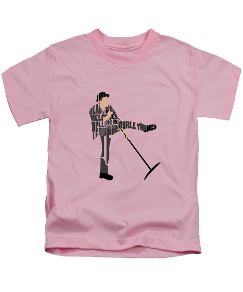Tom Waits Typography Art Kids T-Shirt