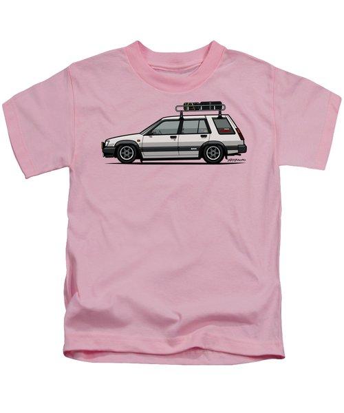 Toyota Tercel Sr5 4wd Slammed Wagon Al25 White Kids T-Shirt