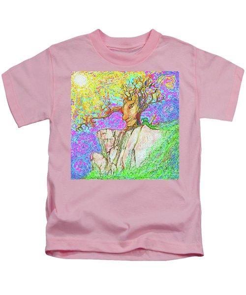 Tree Touches Sky Kids T-Shirt