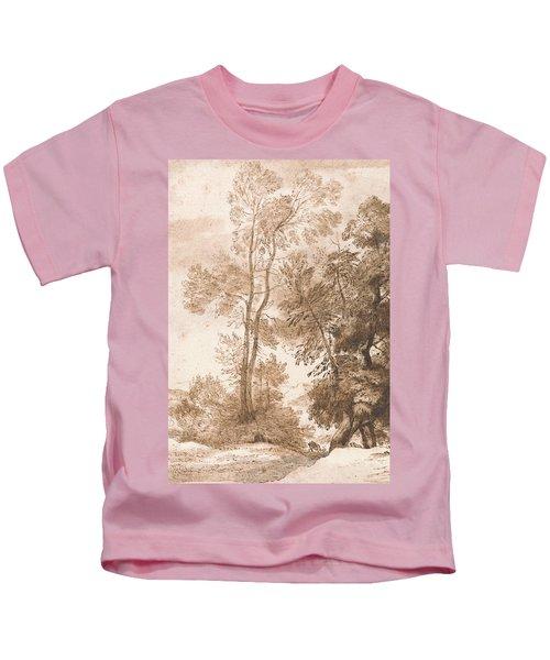 Trees And Deer Kids T-Shirt