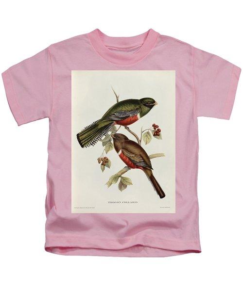 Trogon Collaris Kids T-Shirt by John Gould
