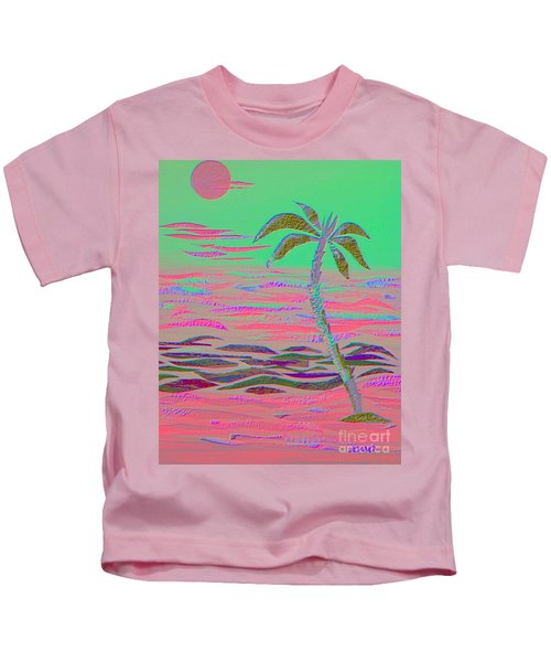 Hot Pink Coconut Palm Kids T-Shirt