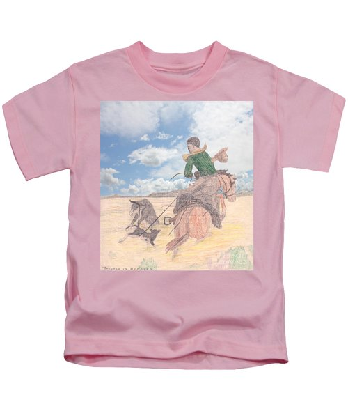 Trouble In Bunches Classic Kids T-Shirt