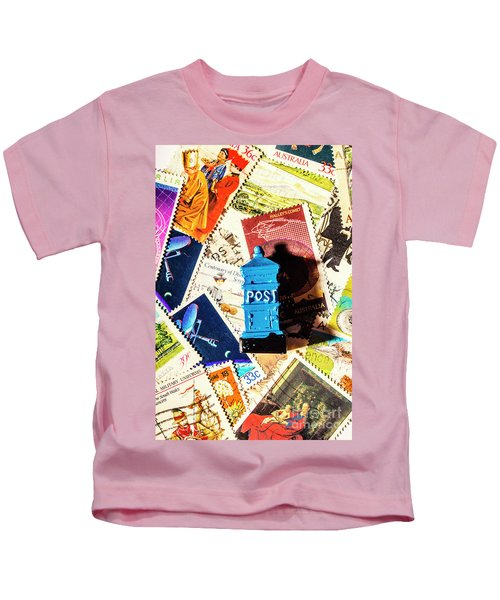 True Blue Postbox Kids T-Shirt