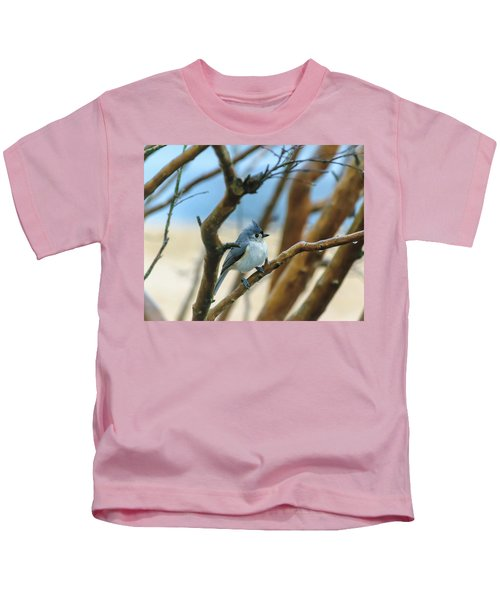 Tufted Titmouse In Tree Kids T-Shirt