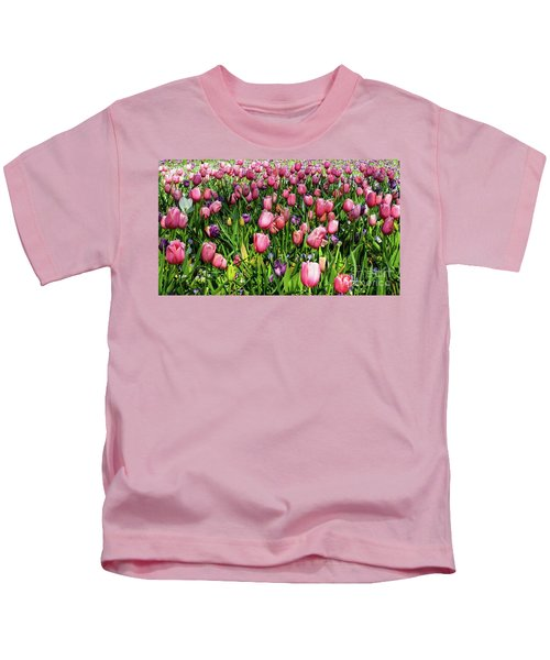 Tulips In Bloom Kids T-Shirt