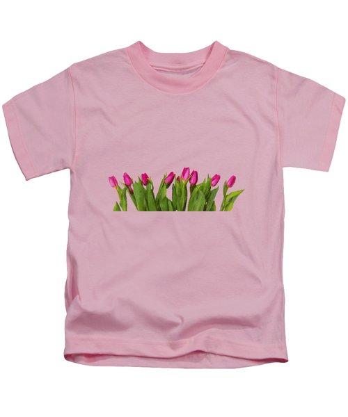 Tulips In The Garden Kids T-Shirt