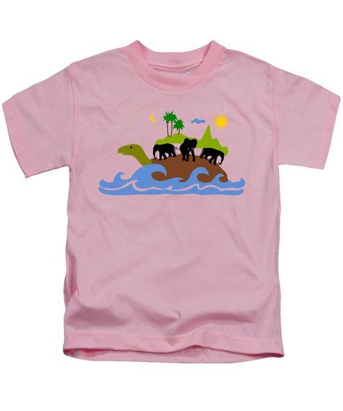 Turtles All The Way Down Kids T-Shirt by Anastasiya Malakhova