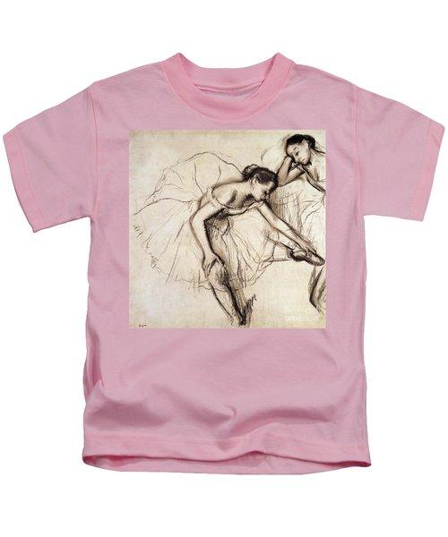 Two Dancers Resting Kids T-Shirt