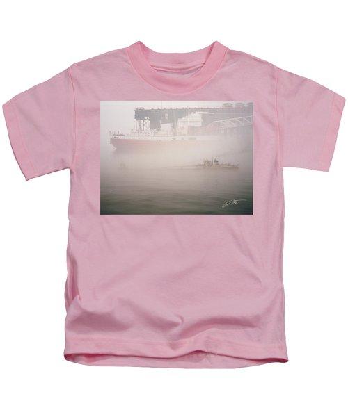 Two Harbors Fog Ship II Kids T-Shirt