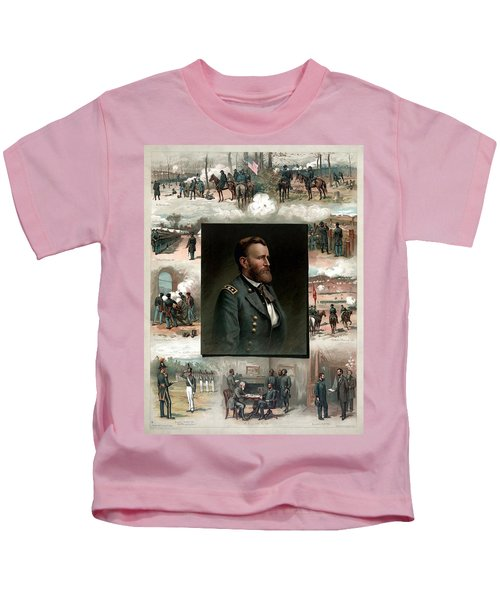 Us Grant's Career In Pictures Kids T-Shirt