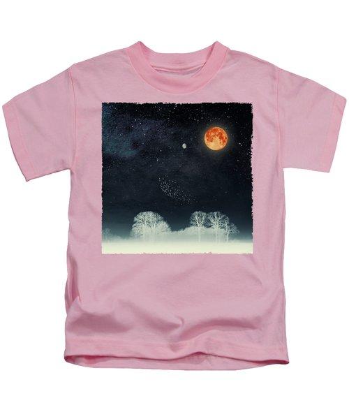 Venus And Moon Night Kids T-Shirt