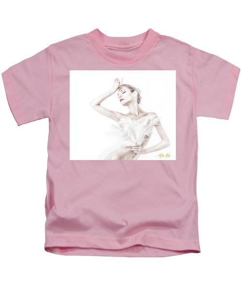 Viktory In White - Feathered Kids T-Shirt