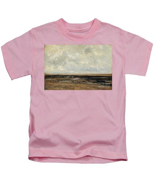 Villerville Beach In Normandy Kids T-Shirt