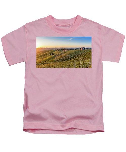 Vineyard At Barbaresco, Italy Kids T-Shirt
