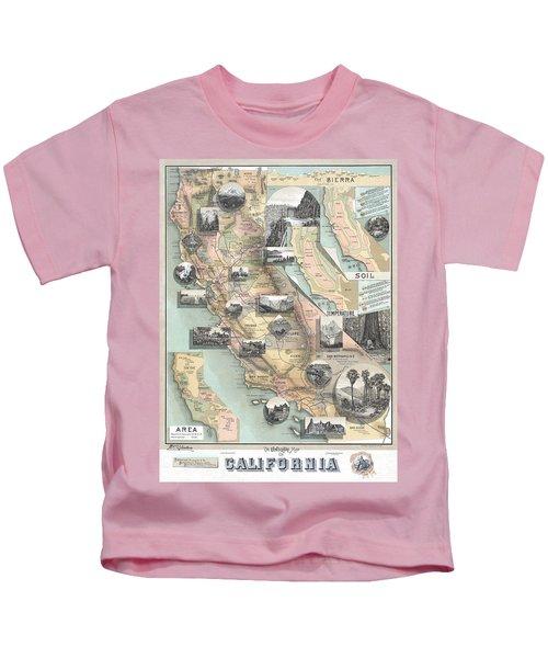 Vintage California Map Kids T-Shirt